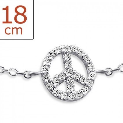 "Armband Zilver ""Peace"""