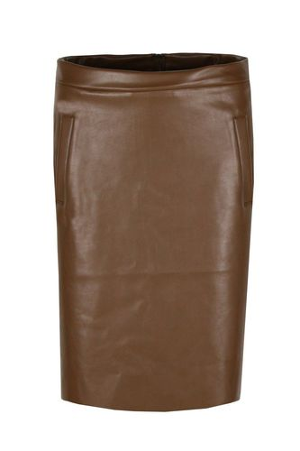 Rokje Cognac Leatherlook XL